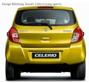 tampilan belakang suzuki celerio