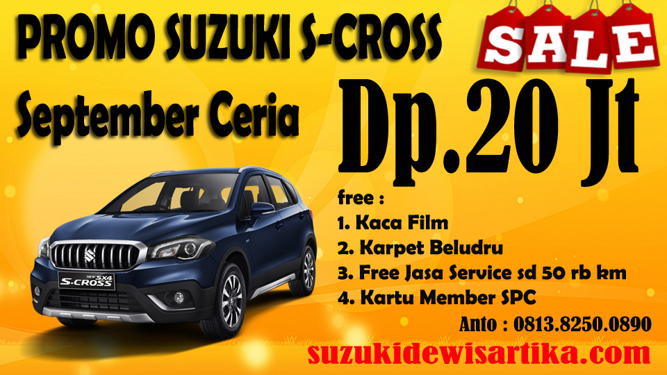 HARGA MOBIL SUZUKI SX4 S-CROSS SEPTEMBER 2018