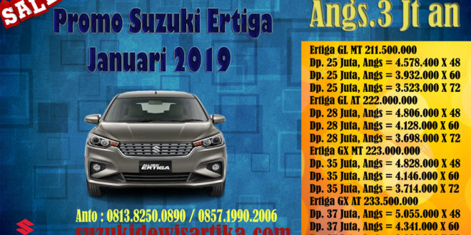 PROMO SUZUKI ALL NEW ERTIGA ANGUSRAN RINGAN JANUARI 2019