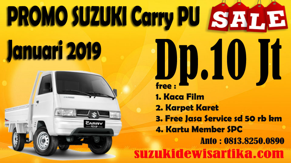PROMO SUZUKI CARRY PICKUP JANUARI 2019
