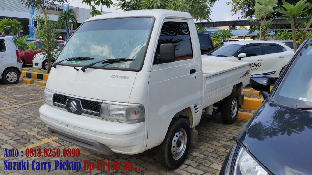 SUZUKI CARRY PICKUP PUTIH 2019 TAMPAK DEPAN SAMPING
