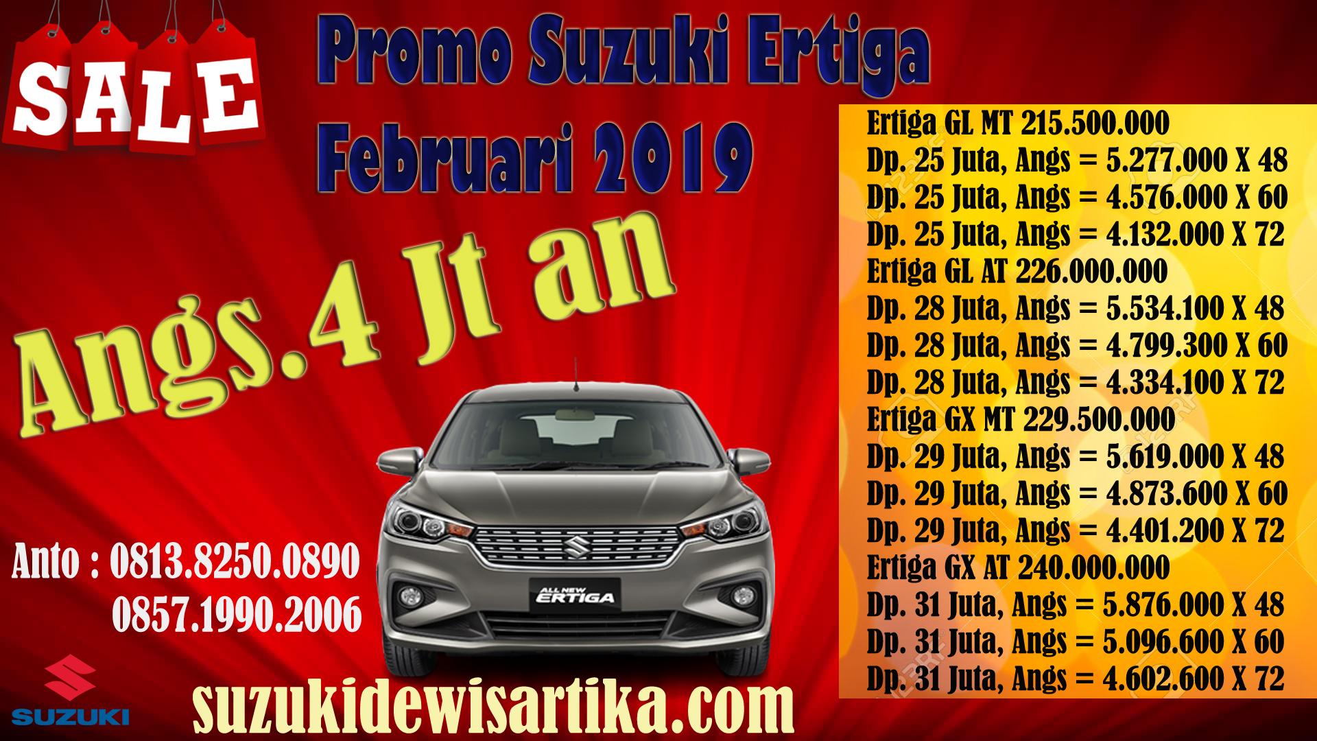 SUZUKI ERTIGA DP MURAH FEBRUARI 2019