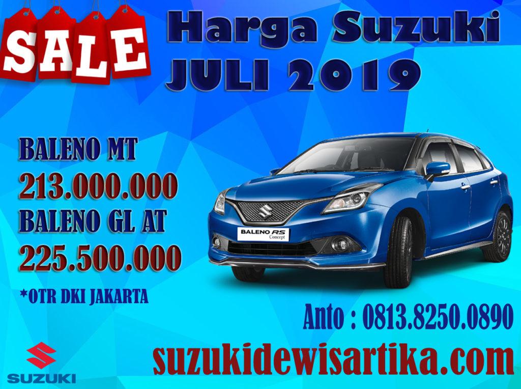 HARGA MOBIL SUZUKI BALENO BULAN JULI 2019