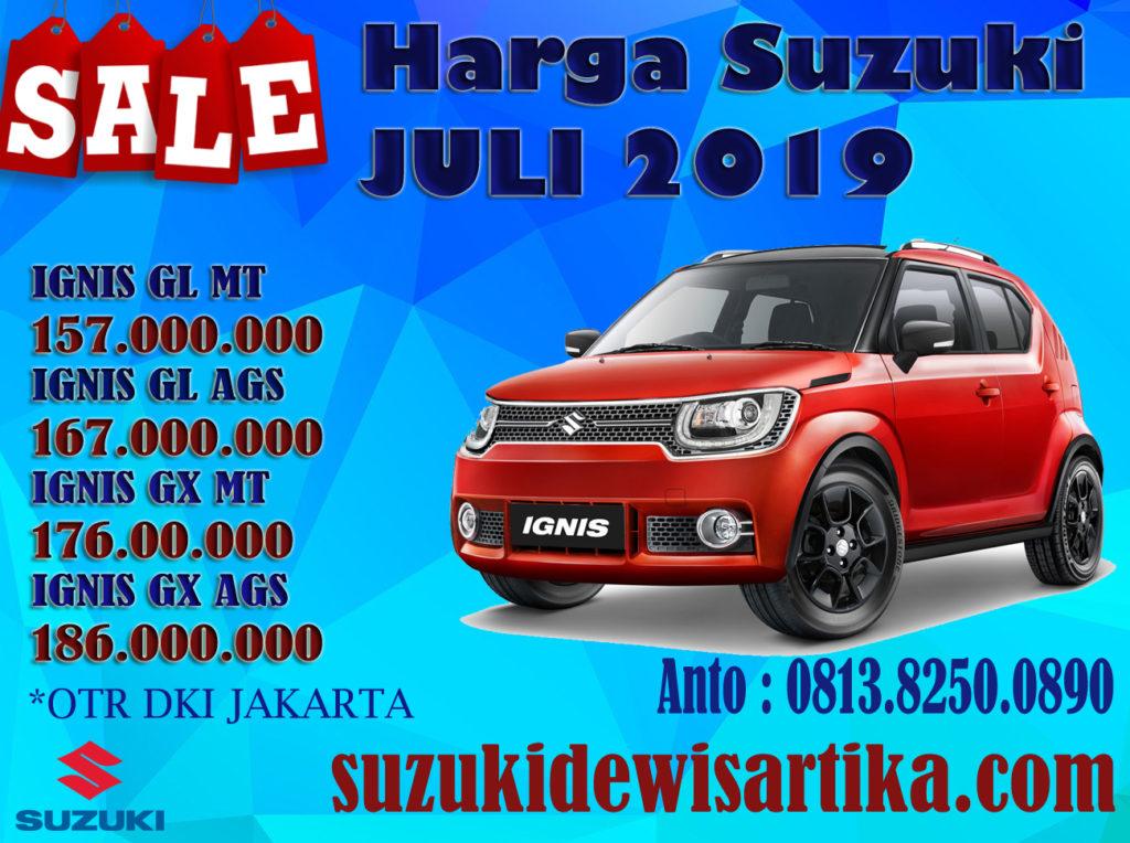 HARGA MOBIL SUZUKI IGNIS BULAN JULI 2019