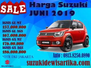HARGA MOBIL SUZUKI IGNIS BULAN JUNI 2019 DKI JAKARTA