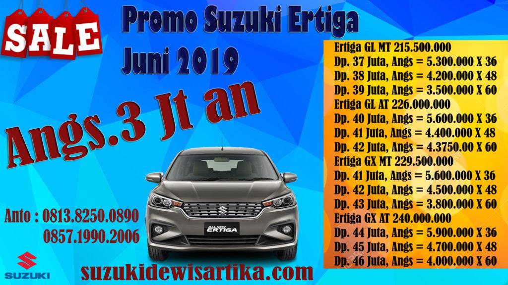 PROMO SUZUKI ERTIGA BULAN JUNI 2019 CICILAN 3 JUTAAN