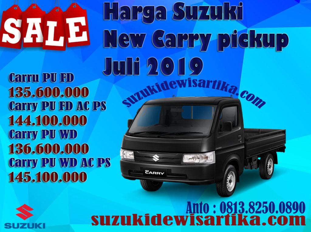HARGA MOBIL SUZUKI NEW CARRY PICKUP BULAN JULI 2019