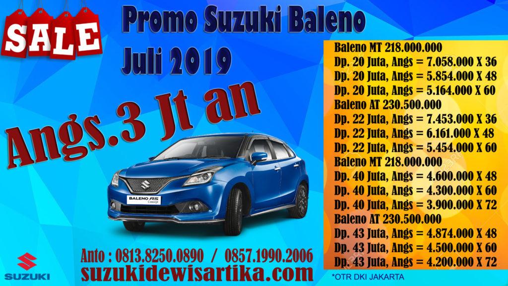 PAKET KREDIT SUZUKI BALENO BULAN JULI 2019