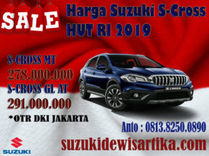 HARGA MOBIL SUZUKI S-CROSS BULAN AGUSTUS 2019