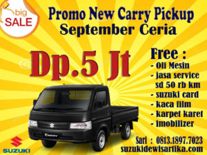 PROMO SUZUKI NEW CARRY PICKUP DP 5 JUTA SEPTEMBER 2019