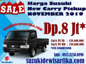 HARGA SUZUKI NEW CARRY PICKUP BULAN NOVEMBER 2019