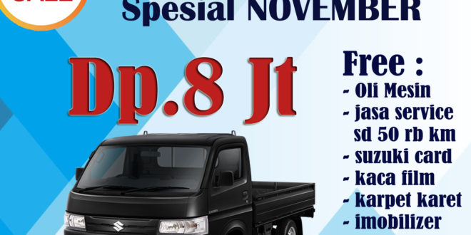 "PROMO SUZUKI NEW CARRY PICKUP, HARGA DAN PAKET KREDIT BULAN NOVEMBER 2019<span class=""rating-result after_title mr-filter rating-result-5952"">			<span class=""no-rating-results-text"">No ratings yet.</span>		</span>"