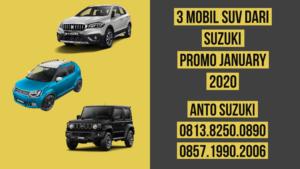 3 Mobil SUV dari Suzuki Promo January 2020
