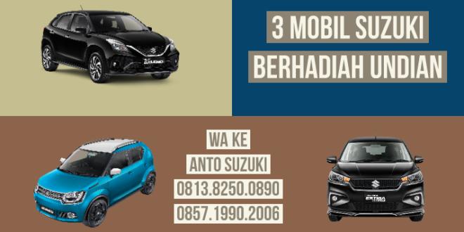 """Beli 3 Mobil Suzuki Dapat Hadiah Undian Januari 2020<span class=""""rating-result after_title mr-filter rating-result-7718"""" ><span class=""""no-rating-results-text"""">No ratings yet.</span></span>"""