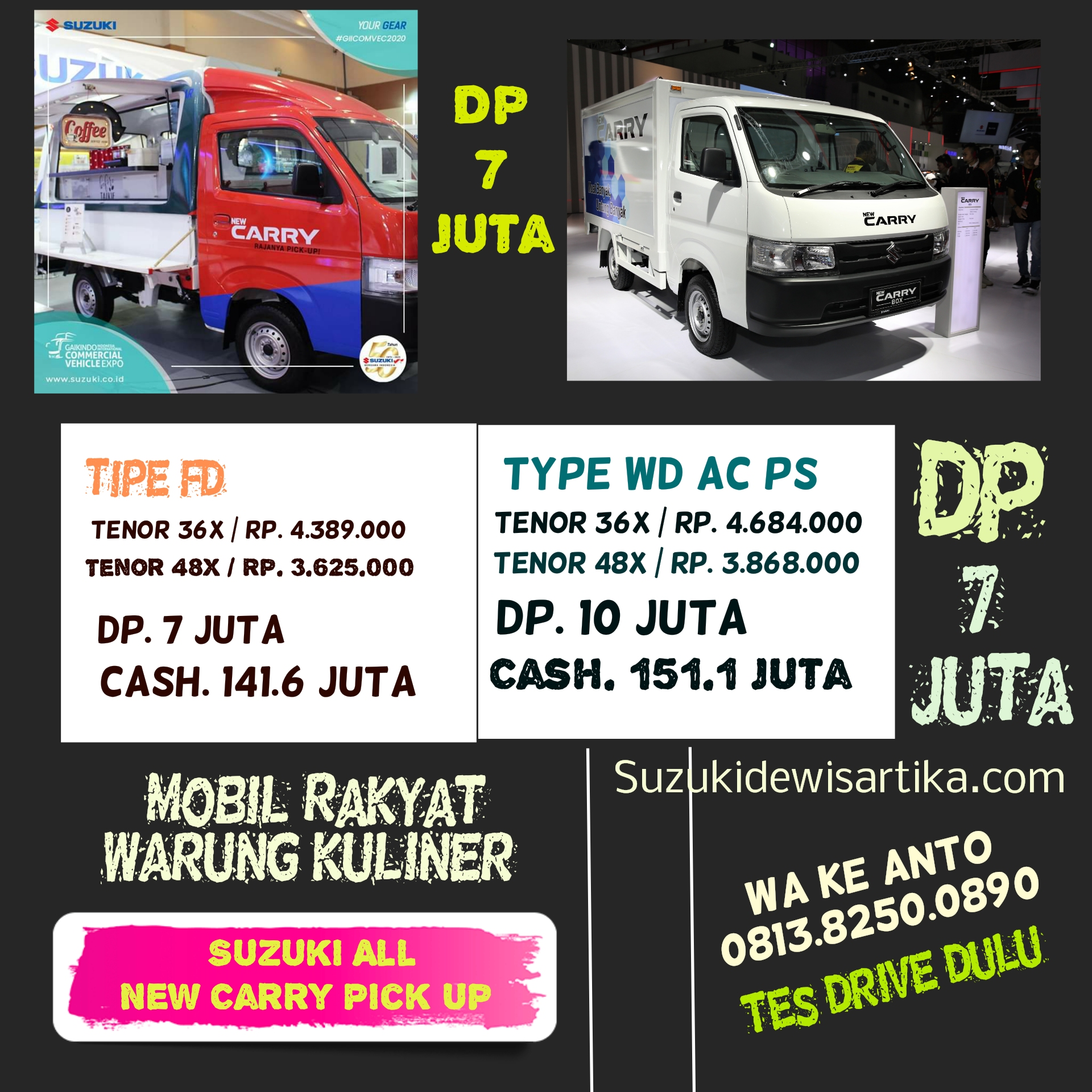 Suzuki All New Carry Pick Up Mobil Kulineran