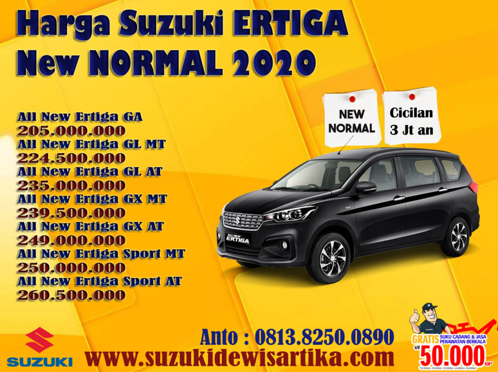 HARGA SUZUKI ALL NEW ERTIGA NEW NORMAL 2020