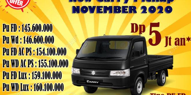 Harga Suzuki Carry Pickup Bulan November 2020