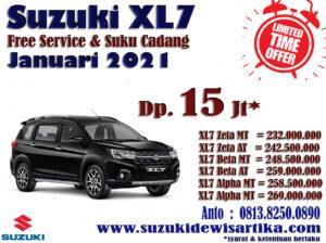 HARGA SUZUKI XL7 BULAN JANUARI 2021
