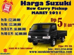 Harga Suzuki Carry Pickup Bulan Maret 2021